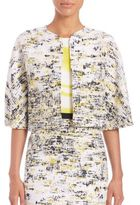 Carolina Herrera Printed Tweed Jacket