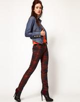 Vivienne Westwood For Lee Skinny Jean In Printed Tartan Print