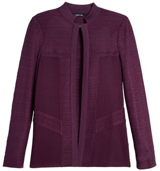 Misook Textured Block Knit Jacket