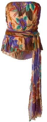 Romeo Gigli Pre-Owned Ruched Print Top