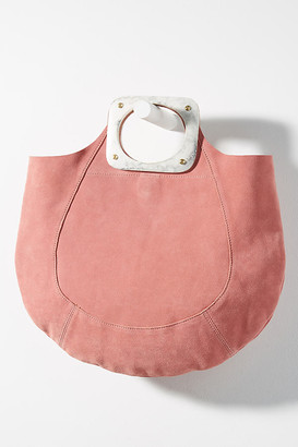 Anthropologie Dora Suede Tote Bag By in Pink Size ALL
