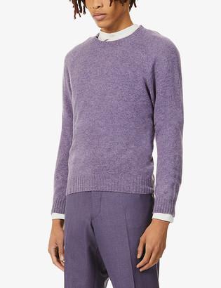 Oscar Jacobson Bran speckled-print wool jumper
