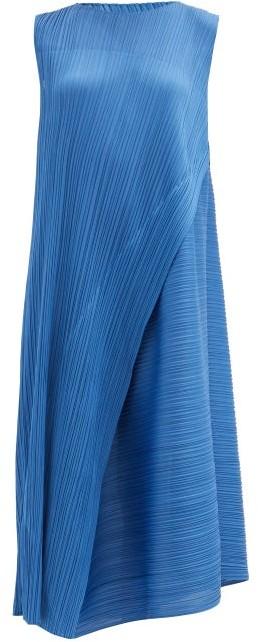 Pleats Please Issey Miyake Technical-pleated Midi Dress - Blue