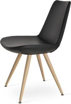 sohoConcept Eiffel Side Chair Leg Color: Black Powder Steel
