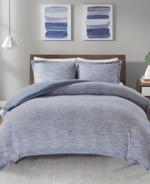 JLA Home Urban Habitat Space Dyed Twin/Twin Xl 2 Piece Melange Cotton Jersey Knit Duvet Cover Set Bedding