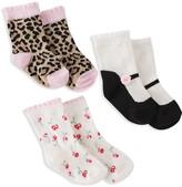 Kate Spade Girls' Multi-Print Socks, Set of 3
