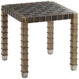 Theodore Alexander Gatehouse Side Table - Echo Oak frame, echo oak/toffee; hardware, silver
