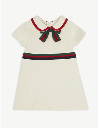Gucci Bow-detailed cotton dress 6-36 months