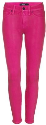 Hudson Nico Mid-Rise Super Skinny Coated Jeans