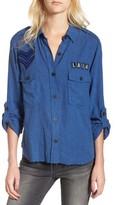Rails Women's Banks Military Patch Shirt