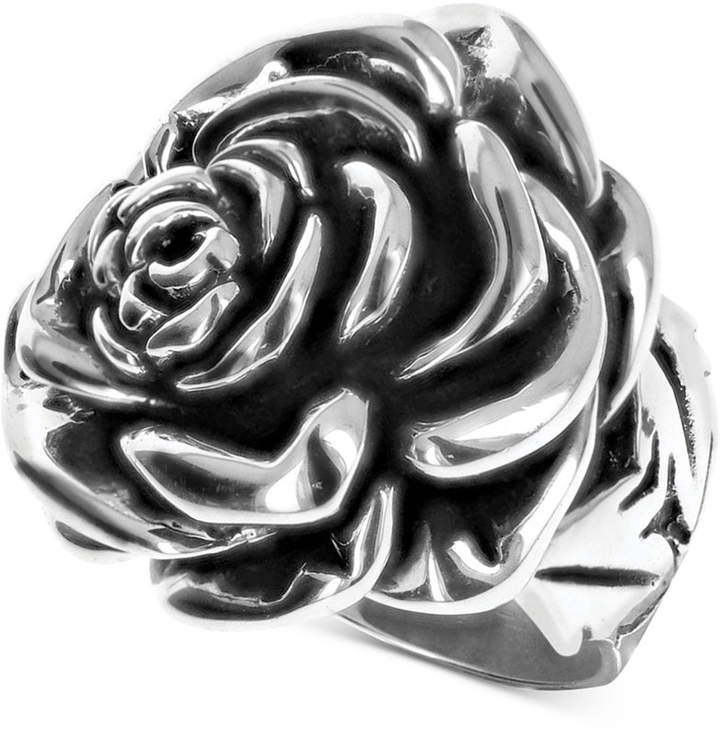 King Baby Studio Women's Rose Ring in Sterling Silver