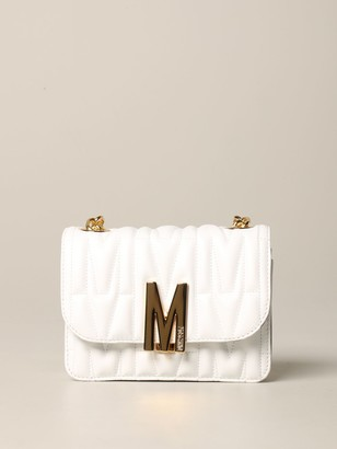 Moschino Mini Bag Shoulder Bag In Quilted Leather With Logo