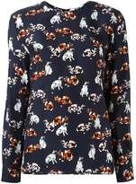 MSGM cat print longsleeved T-shirt