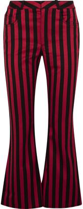 Marques Almeida Striped Cotton-blend Satin Flared Pants