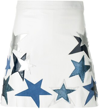 Manokhi Star Patch A-Line Skirt