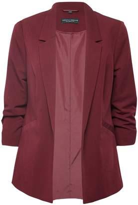 Dorothy Perkins Womens Damson Ruched Sleeve Jacket