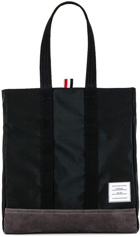 Thom Browne Unstructured Tote Bag in Black   FWRD