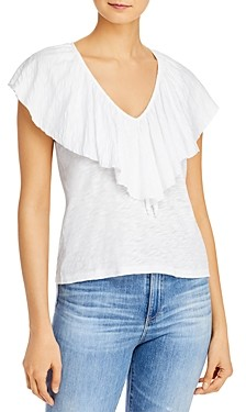Goldie Ruffled Neck Top