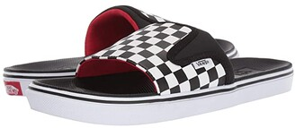 Vans UltraCush(r) Slide-On ((Checkerboard) Black/True White) Sandals