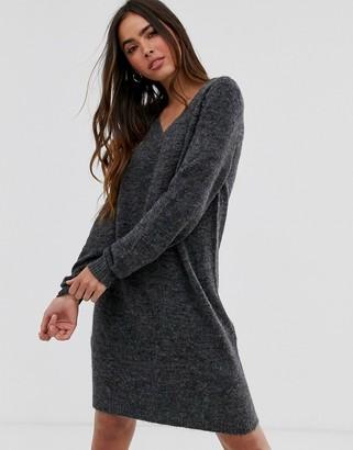 Vila v-neck sweater dress