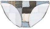 Norma Kamali Eric Mid-Rise Printed Bikini Briefs