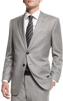 Giorgio Armani Taylor Solid Two-Piece Wool Suit, Light Gray