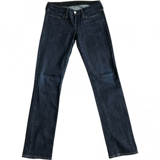 Levi's Made & Crafted Navy Cotton - elasthane Jeans for Women