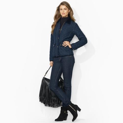 Lauren Ralph Lauren Ralph Corduroy-Trimmed Cotton Jacket