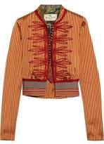 Etro Appliquéd Striped Silk Jacket