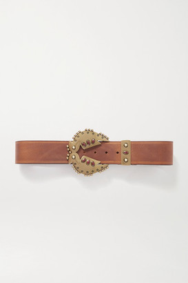 Isabel Marant Abigail Embellished Leather Belt - Brown
