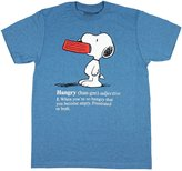 Peanuts Snoopy Hangry Defined Hungry Angry T Shirt