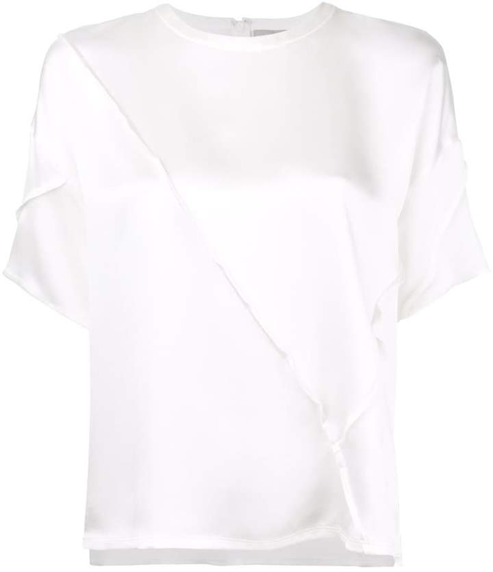Vince Raw Edge Silk T-Shirt