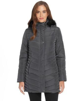 Women's Weathercast Quilted Faux-Fur Hood Walker Jacket