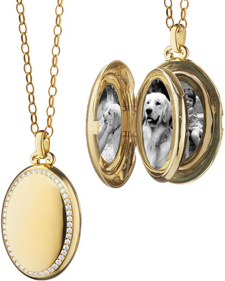 Monica Rich Kosann The Four Premier Pave Diamond High Polished Locket Necklace