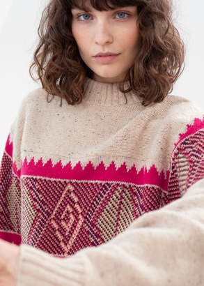 And other stories Diamond Knit Wool Blend Sweater