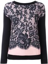 Moschino lace layer jumper