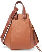 Loewe Hammock Small Textured-leather Shoulder Bag - Tan