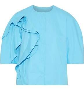 DELPOZO Ruffled Cotton-poplin Jacket