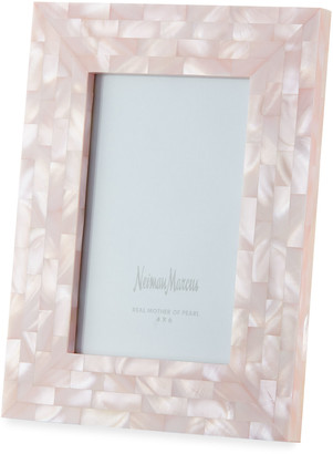"""Mother of Pearl The Jws Collections Mother-of-Pearl Picture Frame, Pink, 4"""" x 6"""""""