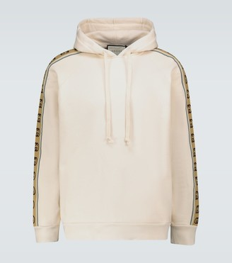 Gucci Hooded sweatshirt with GG piping