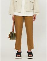 Samsoe & Samsoe Smilla straight high-rise twill trousers
