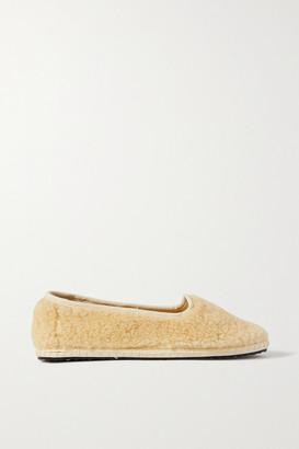 Vibi Venezia Shearling Slippers - Cream