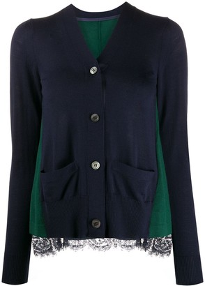 Sacai Panelled Swing Cardigan
