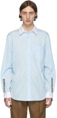 Burberry SSENSE Exclusive Blue Poplin Shirt