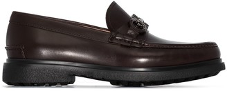 Salvatore Ferragamo leather Gancini detail loafers
