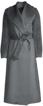 Sentaler Alpaca Shawl Collar Wrap Coat