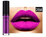 Lipstick, Sunmy Womens Matte Cosmetic Lipgloss Ladies Colorful Vivid Makeup Lip Glosses