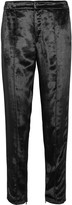 Rag & Bone Alpes crepe-trimmed velvet straight-leg pants