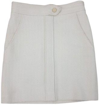 Maje Fall Winter 2018 Beige Cotton - elasthane Skirt for Women