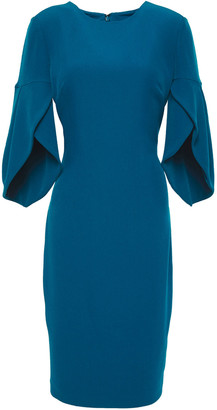Badgley Mischka Fluted Stretch-crepe Dress